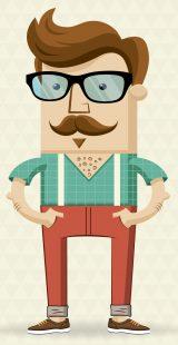 Stil Kleidung Hipster